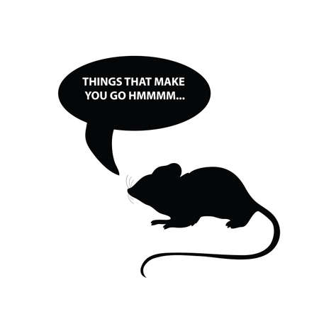 mouse vector silhouette illustration on a white Illustration