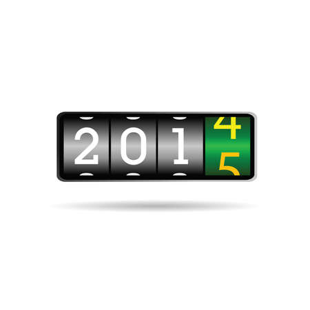 new year counter: new year counter for 2015 art vector illustration