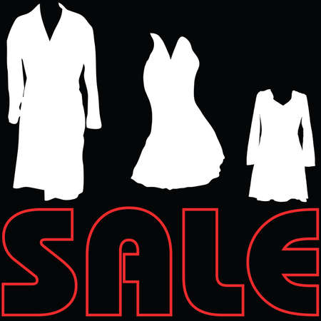 sale with clothes sign vector Vector