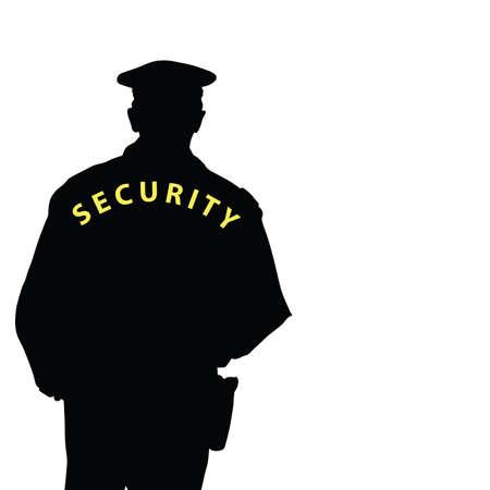 gorra policía: la seguridad del hombre de color vectorial Vectores