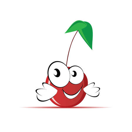 sweet and cute cherry illustration Illustration
