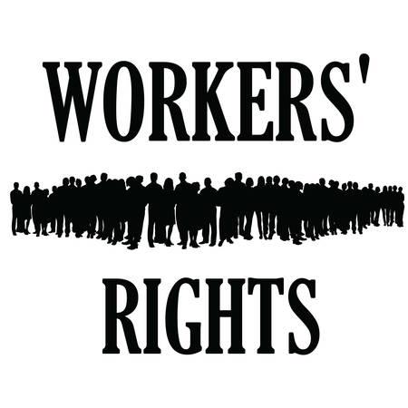 silueta derechos de los trabajadores illustraton grupo de personas