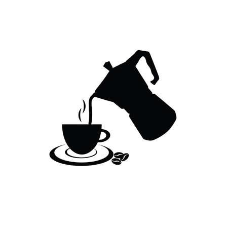 caffee: filter coffee in black symbol illustration vector