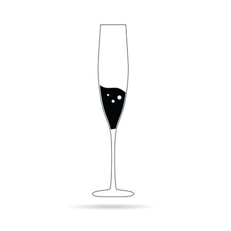 clink: champagne in a glass vector illustration Illustration