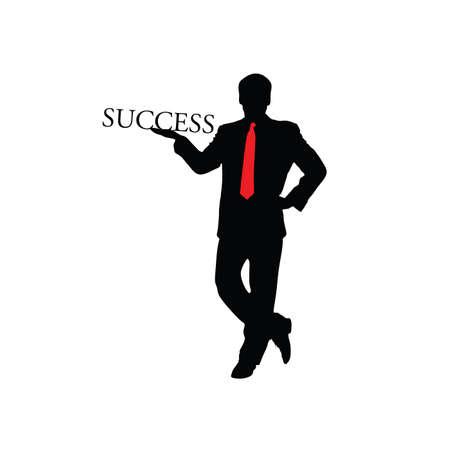 success businessman color vector illustration Vector