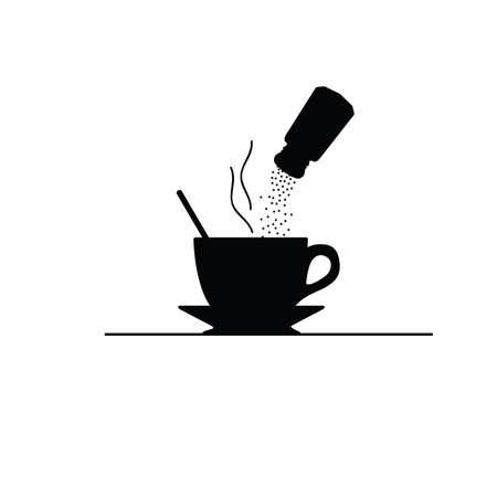 coffee with sugar vector illustration