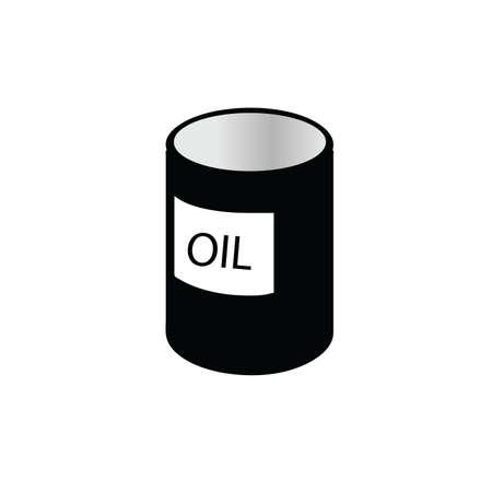 tin: oil tin black and white vector