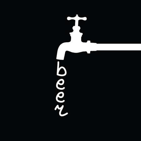 fountain beer vector illustration Vector