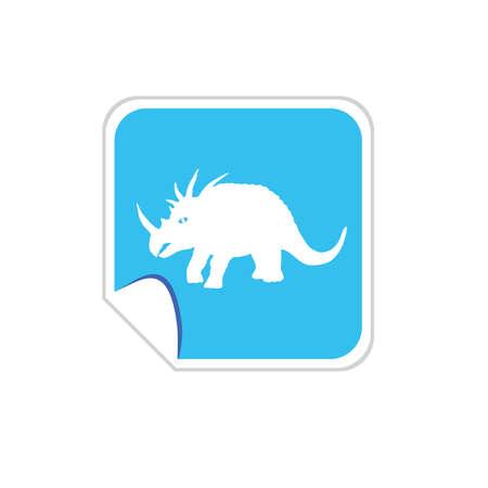 baby dinosaur vector on blue Vector