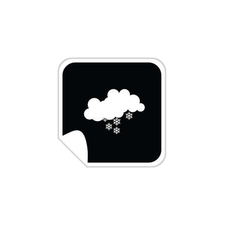 weather snowflake icons vector Vector