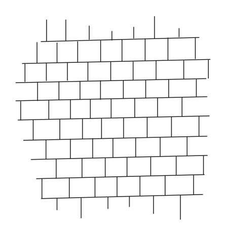 brick wall black and white vector