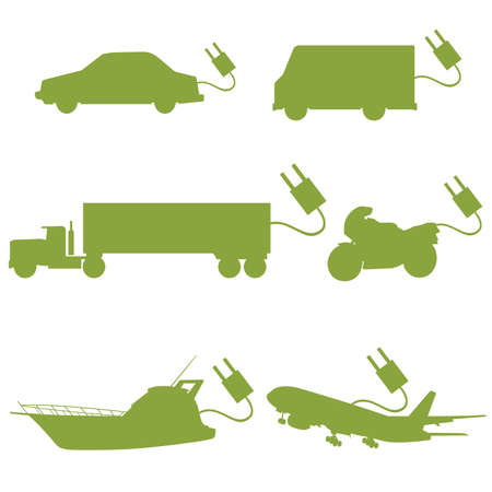 transport vehicle green vector Vector