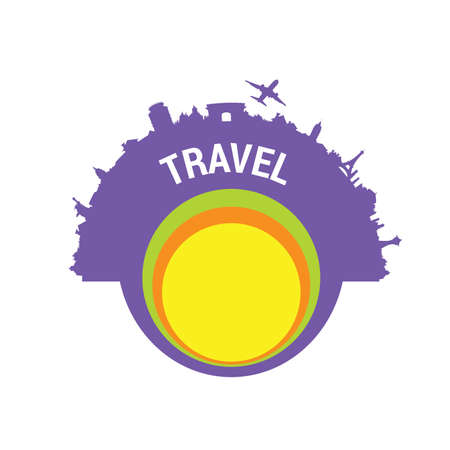 travel color vector silhouette Vector