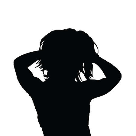 black woman: woman black vector silhouette Illustration