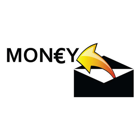 outage: money letter envelope arrow vector illustration