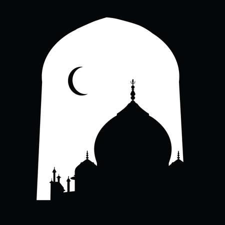 taj mahal black and white vector silhouette