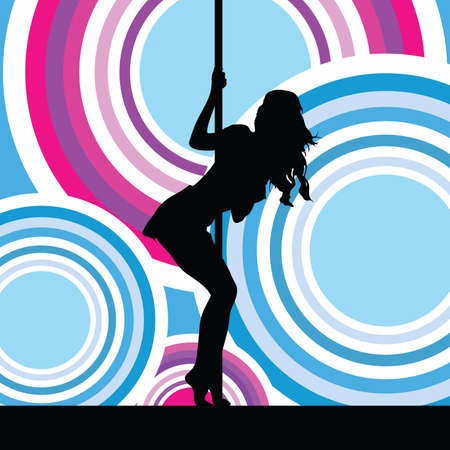 girl sexy in colorful background vector