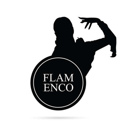 choreography: flamenco girl dance vector silhouette