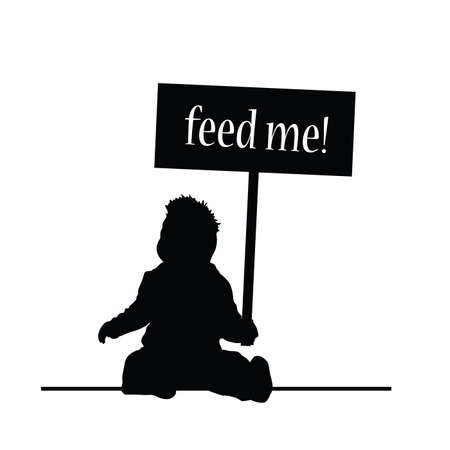 feed: feed baby vector silhouette