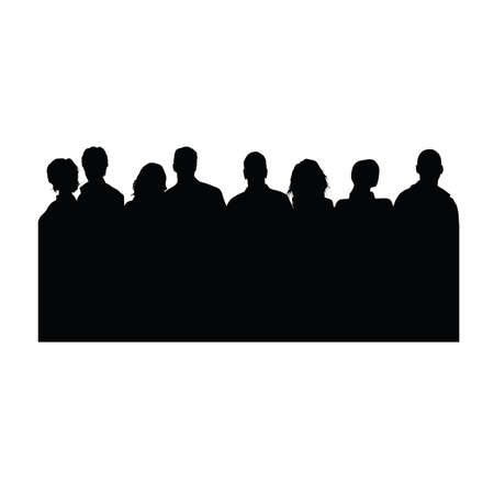 talk show: people vector silhouette on white color