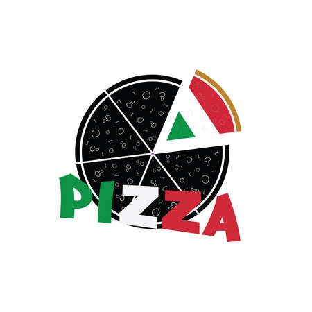 refreshment: pizza vector food refreshment italy in colorful