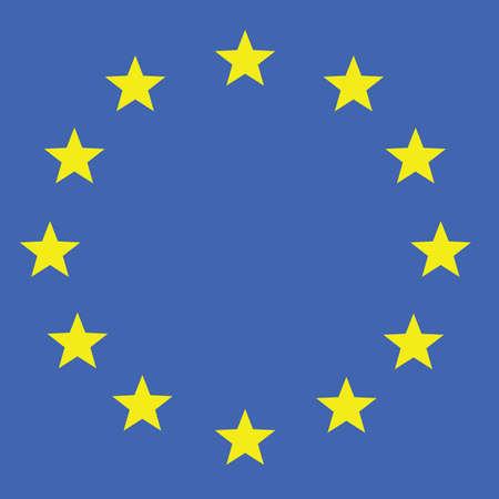 eu flag vector in colorful illustration Illusztráció