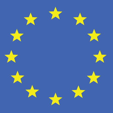 eu flag vector in colorful illustration Illustration