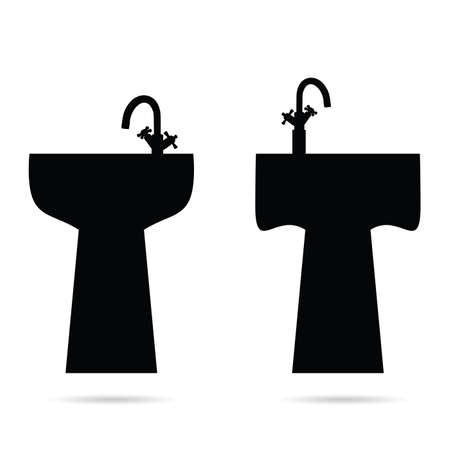 washbowl: sink vector in black color