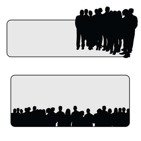 business group: people vector silhouette senior illustration