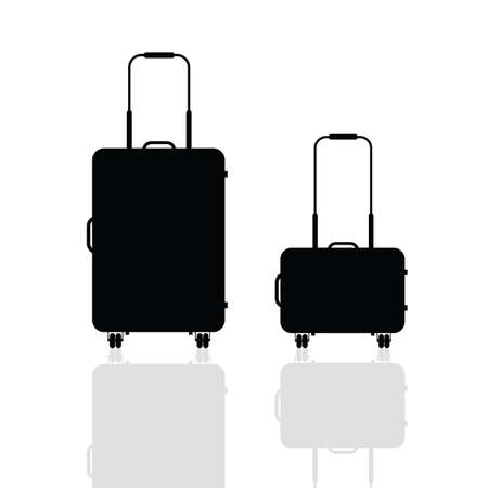 ling: travel bag silhouette illustration in black color