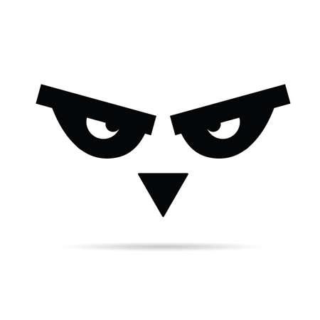 animal eye: bird animal eye illustration in black