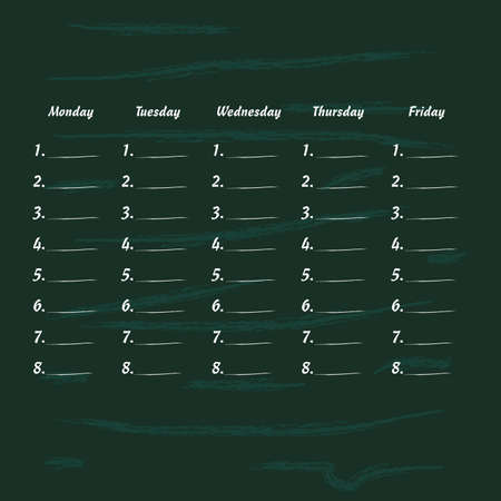 cronograma: school timetable icon illstration art part one Vectores