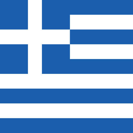 aegean: greece flag hellas in blue and white color design illustration