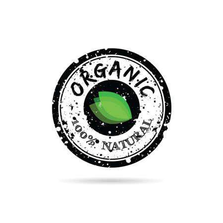 grunge rubber stamp organic illustration on white background