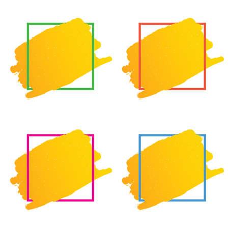 Frame set in various color art illustration