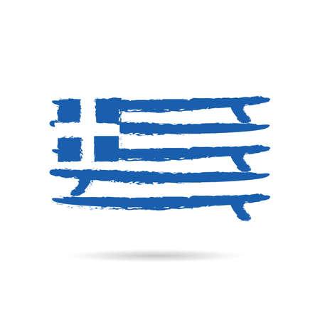 greek flag in blue and white color art illustration Illustration