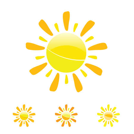 suns: sun vector art illustration in yellow color symbol