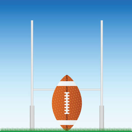 competitions: Rugby ball on field illustration