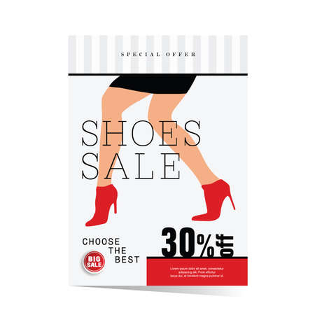 poster of woman shoes sale illustration in colorful