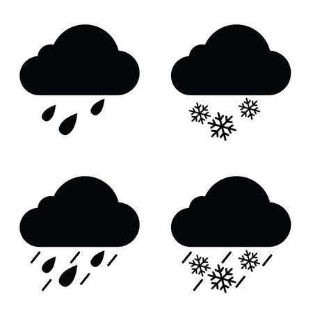 Weather icon in black color illustration Illustration