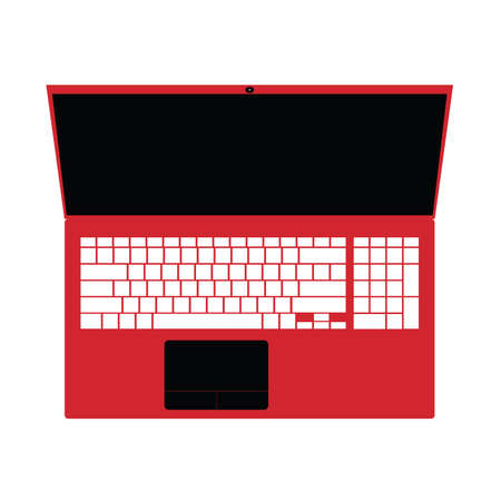 notebook: Laptop red technology art illustration