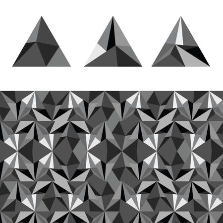 Abstract of triangular pyramid art illustration