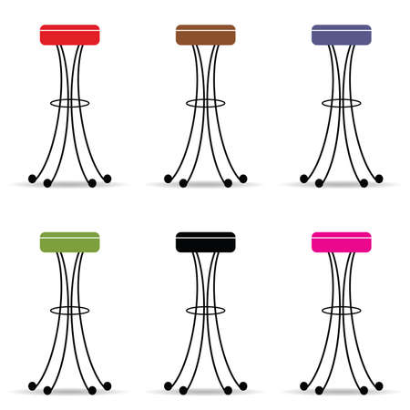 Bar stools set furniture.