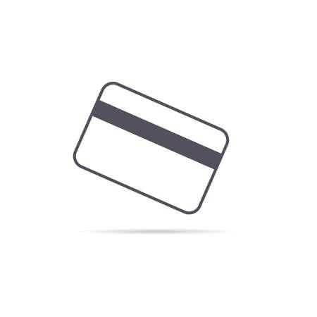 credit card grey art illustration