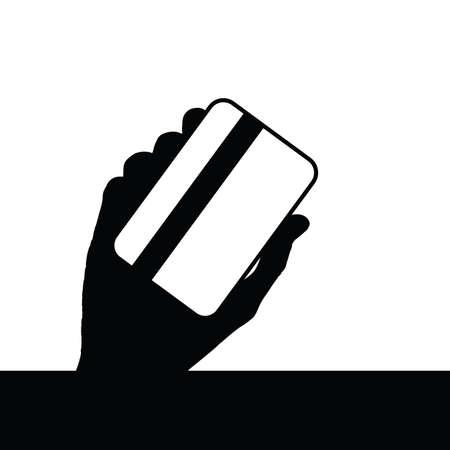 credit card i hand art illustration Çizim