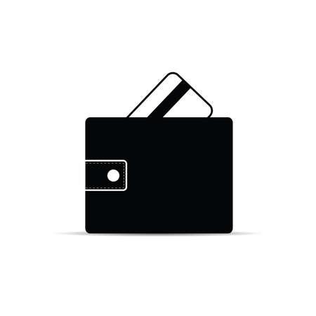 wallet with credit card art illustration Çizim