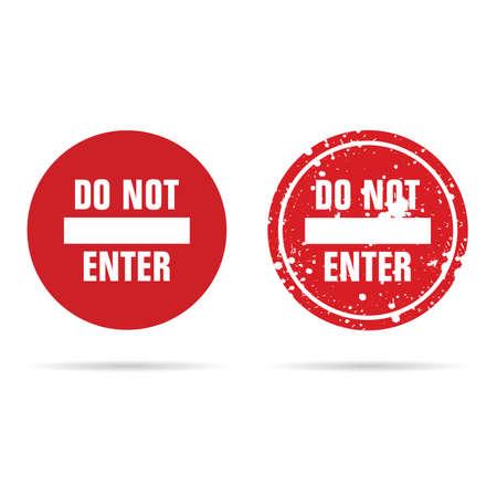 do not enter sign red color illustration Illustration