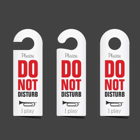 do not disturb set art illustration
