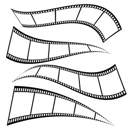 film tape set illustration
