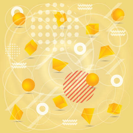 Abstract background in yellow color with element.
